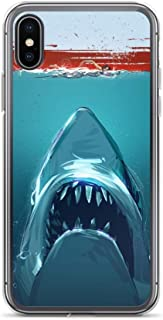 iPhone XR Case Anti-Scratch Motion Picture Transparent Cases Cover Jaws Movies Video Film Crystal Clear