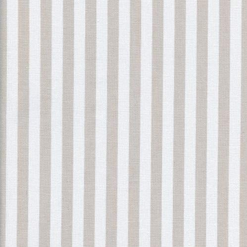 Tela Beige y Blanco - Raya Marina 1 cm - 100% algodón Suave | Ancho: 150 cm (por Metro Lineal)*