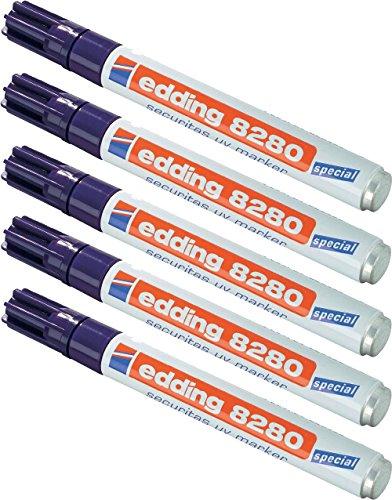 5 Stück UV-Marker Securitas e-8280, Rundspitze 1,5-3mm, farblos
