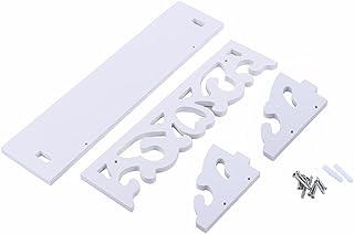 comprar comparacion Yosoo - Estantería de pared de madera para colgar con tornillos, diseño retro, casa de campo, color blanco