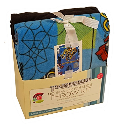 Springs Creative Products Transformers Bumblebee & Optimus Prime No-Sew Microfleece Throw Kit