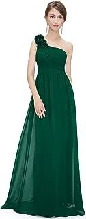 Best emerald green dress one shoulder Reviews