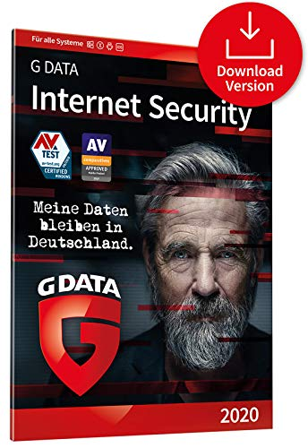 G DATA Internet Security 2020 | 3 Geräte - 1 Jahr, Code per Email | Virenscanner für PC, Mac, Android, iOS | Made in Germany
