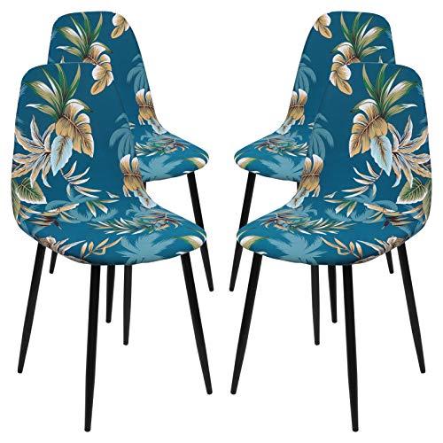 NIBESSER Fundas para silla, juego de 1/4/6 fundas para sillas de comedor, fundas para sillones, fundas para sillones, fundas elásticas para sofá o salón