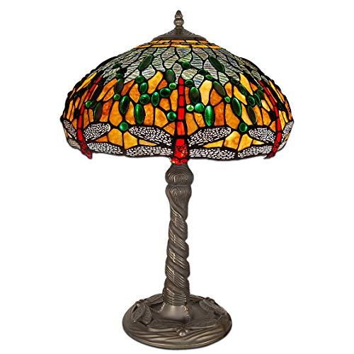 World Art TW60488 Lampes Style Tiffany, Multicolore, 59x41x41 Cm