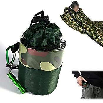 LEZED Sac de Bivouac de Survie d'urgence Camouflage Sac de Couchage de Survie Équipement de Premiers Secours en Plein air pour la randonnée Chasse Camping Activités de Plein air Gardez au Chaud