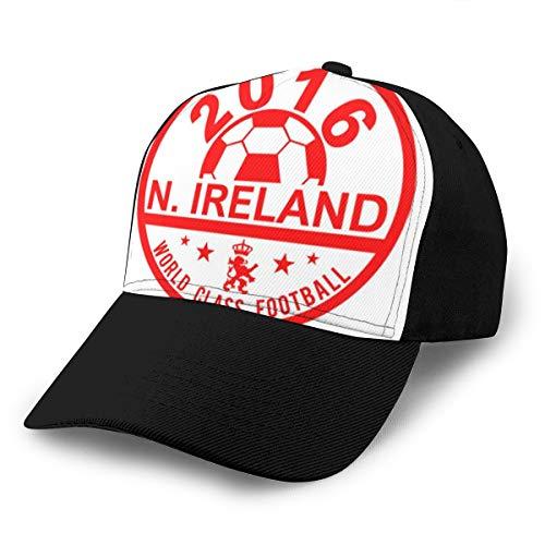 Hongyan Baseballkappe, Euro 2016, Fußball, Nordirland, Disc, weiß, verstellbar, atmungsaktiv, für Herren und Damen