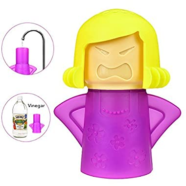 Microwave Cleaner Tool Angry Mama,Healthy and Safe Cleaning Methods,Microwave Oven Steam Cleaner Easily Cleans The Stains in Minutes,Improve The Smell of Bedroom,Bathroom and Microwave Oven - Purple