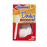 Diamond Plastic Spoons 24-Count (Pack of 3)