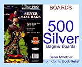 500 Silver Ultra Pro Bags and Boards for Comic Books