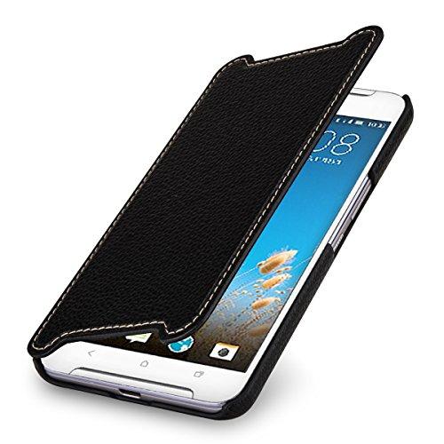StilGut Book Type Hülle, Hülle Leder-Tasche kompatibel mit HTC One X9, Schwarz