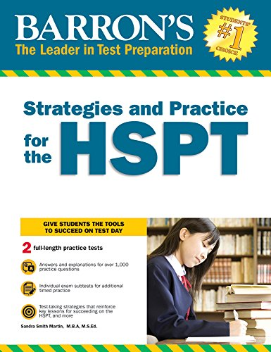 Strategies and Practice for the HSPT (Barron's Strategies...