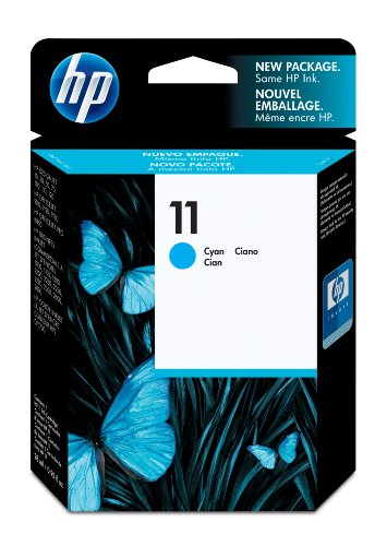 Original Tinte passend für HP CP 1700 HP 11C, 11CYAN, C4836A, NO11, NO11C, NO11CYAN, Nr 11 C4836A C4836AE - Premium Drucker-Patrone - Cyan - 2350 Seiten - 28 ml