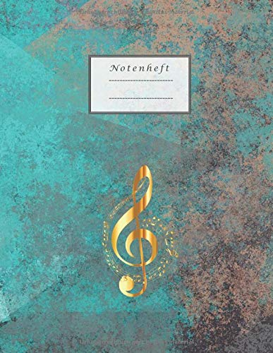 Notenheft: Notenheft zum Selberschreiben/Notenheft blanko/ Notizbuch für Lehrer Musiker und Komponisten/ 80 Seiten /Blanko Notenpapier Manuskript /Piano /Gitarre/ Violine/ Keyboard / DIN A4/Soft Cover