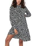 JACQUELINE de YONG JDYPIPER L/S AOP Shirt Dress WVN Noos Vestido, Color Negro, 46 para Mujer