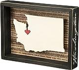 Primitives by Kathy 27793 Box Sign, 9.75' x 7.25', Washington