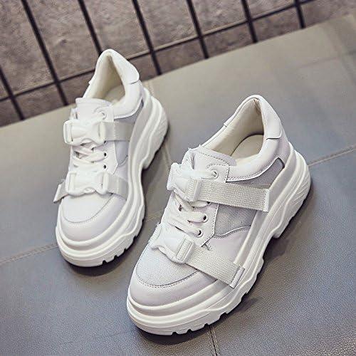 GUNAINDMX Chaussures de printemps Ball Nouveau Nouveau All-Match épais Chaussures à talons hauts Bas Chaussures Chaussures blanches  service attentionné