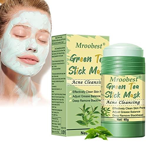 Green Stick Mask, Grüner Tee Maske, Green Tea Stick Mask, Entfernen Sie zur Akne-Reinigung Mitesser tief, reinigen Sie die Hautporen und stellen Sie die Fettbalance ein