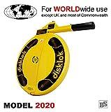 BS-Disklok Gelb (Model 2020) - Lenkradkralle und Airbagschutz für Lenkräder (für Linkslenker EU ohne UK) (S 390)