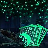 Meloive Pegatinas De Estrellas Para Pared Que Brillan En La Oscuridad, Decoración Fluorescente Para...