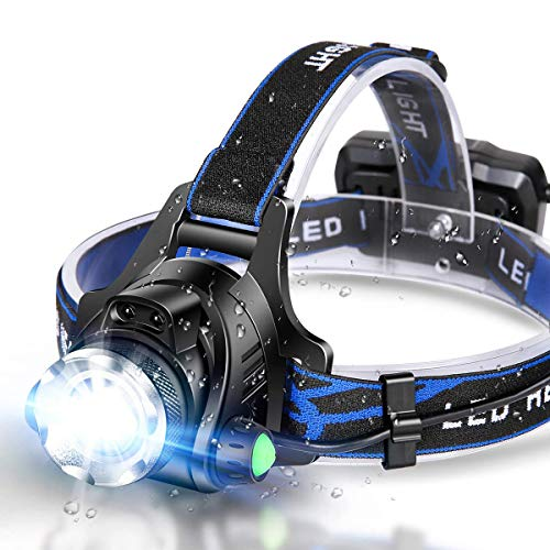 Headlamp Flashlight, USB Rechargeable Led Head Lamp, IPX4 Waterproof T004 Headlight with 4 Modes and Adjustable Headband, Perfect for Camping, Hiking, Outdoors, Hunting …
