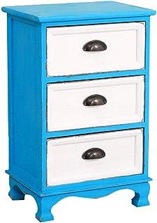 Mesita de Noche de Madera Maciza Cómoda Retro Caja de Almacenaje Armario Estilo Country Vintage Muebles Vintage Mueble de ...