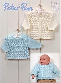 Peter Pan Baby Cardigan & Sweater Knitting Pattern 1178 DK