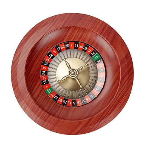 Roulette, Glücksspielrad Spiel Tellerteller Holz Erwachsene Unterhaltungsprodukte 12 Zoll,As Shown-One Size