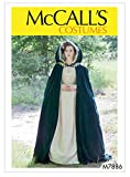 McCall's Women's Lined Cape Costume Angela Clayton, Sizes 4-22 Sewing Pattern