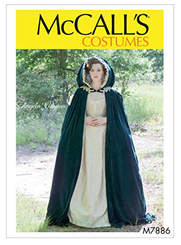 McCall's M7886MIS Women's Lined Cape Costume Sewing Pattern by Angela Clayton, Sizes 4-22 Schnittmuster, Papier, einfarbig, All One Envelope