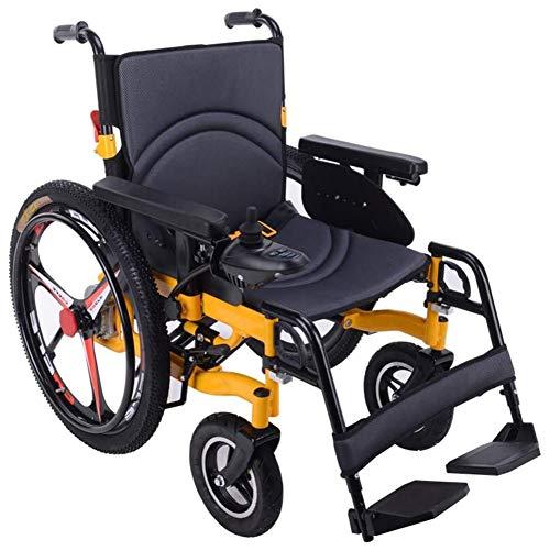 Mdhk Heavy Duty Elektro-Rollstuhl, faltbar und leicht elektrisch betriebene, Sitzbreite 50cm, 360 ° Joystick, Gewicht Kapazität 100kg