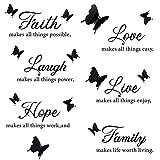 Pegatinas Pared,JPYH Motivadoras Inglés Stickers Adhesivos, para Cuartos, Dormitorio, Cocina Decoración