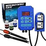 Controlador Digital De PH ORP Redox 2 En 1 Con Control De Relé De Potencia De Salida, Sonda De Electrodo BNC, Medidor De Calidad Del Agua, Kit De Medición Continua En Línea (Medidor de pH / ORP)