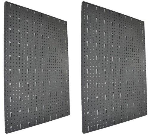 Lochblech aus Metall mit Eurolochung als Erweitung für Lochwand. 2 Stück im Vorteilspack mit Schrauben zur Wandanbringung, Maße ca. 40x58 pro Lochblech!