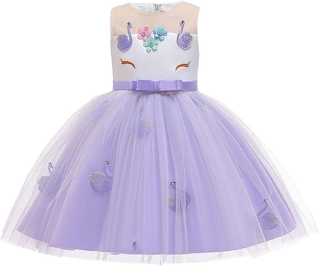 Rishine Newborn Max 88% OFF Girls Sleeveless Dress Cartoon Wedding Max 76% OFF Princess