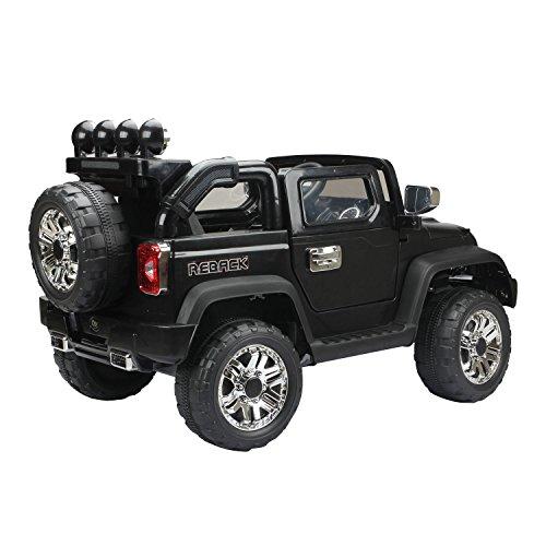 RC Auto kaufen Kinderauto Bild 6: HOMCOM Elektroauto Kinderauto Kinderfahrzeug Kinder Elektro Auto Fahrzeug Spielzeug (Jeep/schwarz)*
