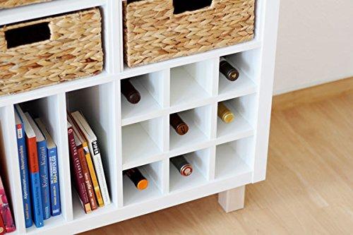 Ikea Kallax Expedit Regal Einsatz von New Swedish Design für 9 Flaschen (Fächer 10 x 10 cm) Flaschenregal Weinregal Wein u. Sektflaschen Aufbewahrung Weinflaschen Handtuchregal Physiotherapie 33,5 x 33,5 x 37 cm WEISS