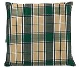 Hockerauflage Sitzpolster Gartenhockerauflage | 48 x 48 cm | Beige-Grün | Baumwoll-Mischgewebe