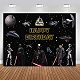 7x5FT Star Wars Photography Vinyl Photo Background for Kids Birthday Party Backdrops Decoration