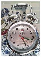 目覚まし時計 目覚まし時計の家の装飾:レトロなビンテージツインベルデスクベッドサイドの目覚まし時計ビンテージ目覚まし時計 (Color : S)