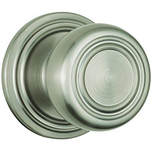 Brinks Push Pull Rotate Door Locks Webley Passage Knob, Satin Nickel, 23044-119