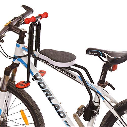 GODNECE Siège Vélo Avant Enfant, Siège Vélo pour Bébé Enfant Selle Velo Confort Enfant Détachable Siege Avant avec Pédale et Poignée