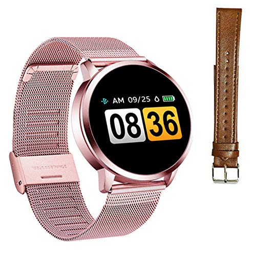 Q8 Bluetooth impermeable reloj inteligente OLED pantalla de color smartwatch señoras moda fitness Tracker monitor ritmo cardíaco para Android Ios, N