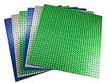 Apostrophe Games Blocco da Costruzione Classico Piastre di Base Compatibile con Tutte Le Principali Marche (Pacchetto di 6 (Verde, Blu, Grigio))