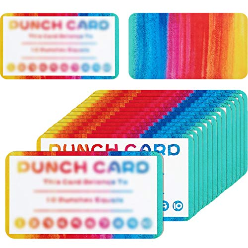 Punch Cards Incentive Reward Cards, Classroom Kids Rewards for Teachers Students Customer Supplies, Business Kids Behavior Students (300 Pieces)