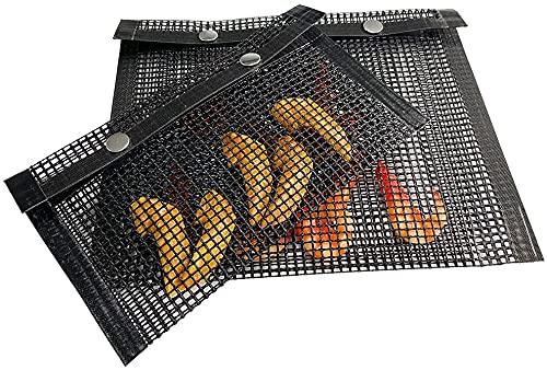 BBQ Grill Mesh Bag Antihaft-Grilltasche für Grill, hitzebeständiges Netz, Grill-Outdoor-Werkzeug, kann eine Vielzahl von Gemüsenudeln und Fleisch Grillen (L)