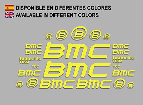 Ecoshirt OX-9Z04-BLDK Aufkleber BMC F167 Vinyl Adesivi Decal Aufkleber públicŸŸŸber MTB Stickers Bike, gelb