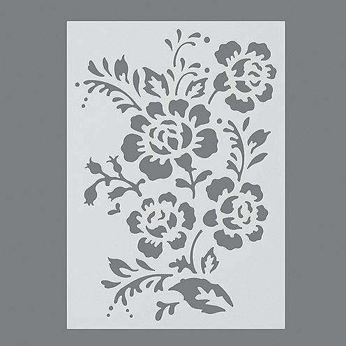 efco Schablone in 1Design, Motiv Wildrose, Kunststoff, durchsichtig, A5