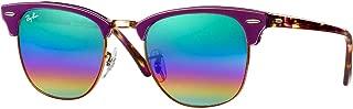 Kính mắt cao cấp nam – Clubmaster RB3016 Sunglasses-(1221C3) Violet/Metallic Medium Bronze/Green Mirror Rainbow1-51mm