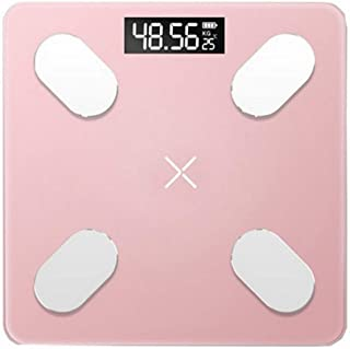 V-OPQ Digital Scale, Smart Body Fat Bathroom Digital Weight Bathroom Scales Body Composition Analyzer Monitor Analyzer Scales With APP,For Fitness Tracking,For Home (Color : Pink, Size : Wired)